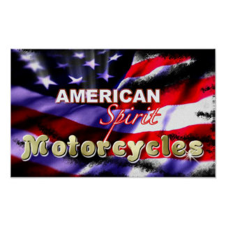 American Spirit Motorcycles Posters