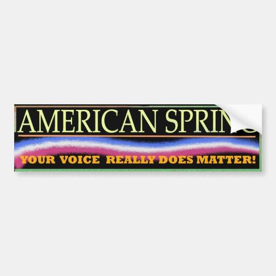 American Spring Bumper Sticker 3