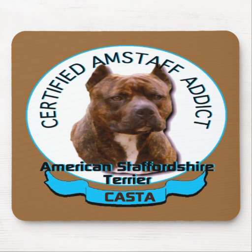 American Staffordshire Addict Mouse Pads