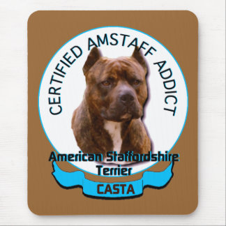 American Staffordshire Addict Mouse Pad