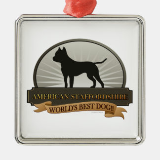American Staffordshire Christmas Ornament