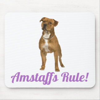 American Staffordshire Terrier Amstaff Mousepad