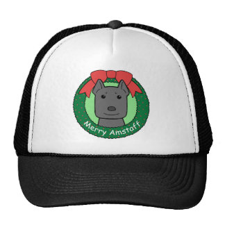 American Staffordshire Terrier Christmas Trucker Hats