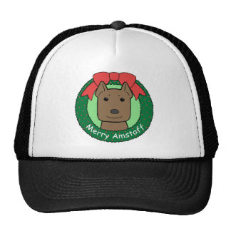 American Staffordshire Terrier Christmas Hat