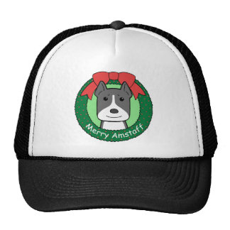 American Staffordshire Terrier Christmas Hats