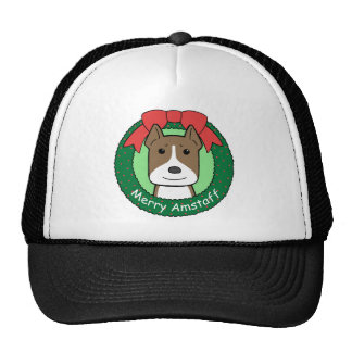 American Staffordshire Terrier Christmas Mesh Hat