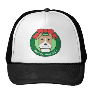 American Staffordshire Terrier Christmas Mesh Hats