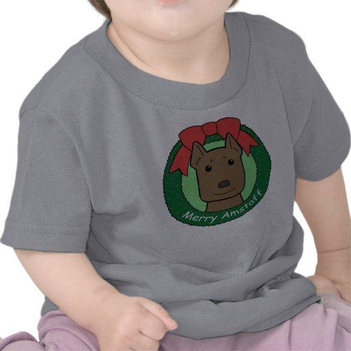 American Staffordshire Terrier Christmas T Shirt