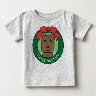 American Staffordshire Terrier Christmas Tee Shirts