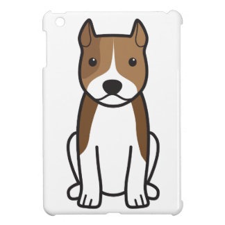 American Staffordshire Terrier Dog Cartoon iPad Mini Cover