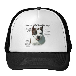 American Staffordshire Terrier History Design Trucker Hat