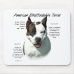 American Staffordshire Terrier History Design Mouse Pad