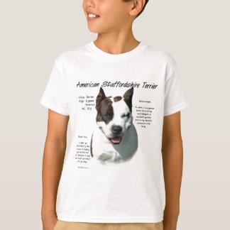 American Staffordshire Terrier History Design T-Shirt