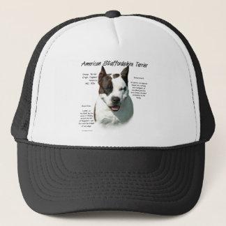 American Staffordshire Terrier History Design Trucker Hat