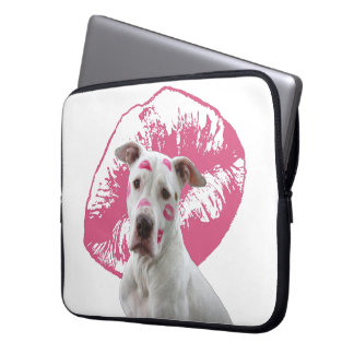 American Staffordshire Terrier - Kiss Kiss Laptop Sleeve