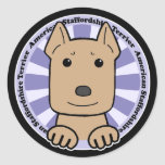 American Staffordshire Terrier Classic Round Sticker