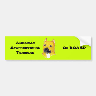 American Staffordshire Terriers Car Bumper Sticker