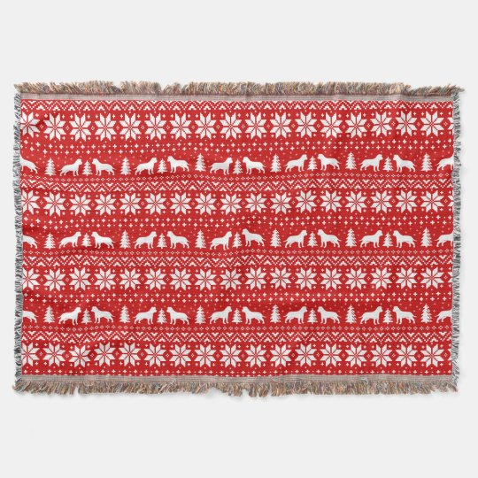 American Staffordshire Terriers Christmas Pattern Throw Blanket