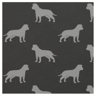 American Staffordshire Terriers (Floppy Ears) Fabric