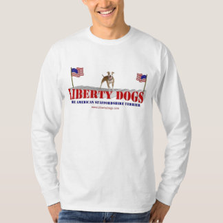 American Staffordshire with Flags T-Shirt