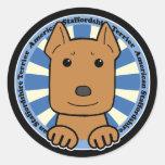 American Stafforshire Terrier Round Stickers