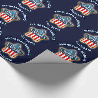 American Star Customized With Your City And State Wrapping Paper
