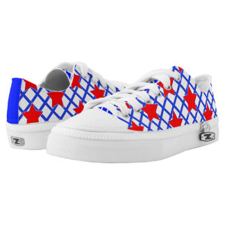 American Stars and Stripes Abstract Pattern Low Tops