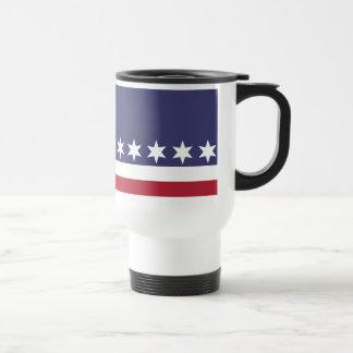 American Stars and Stripes Travel Mug