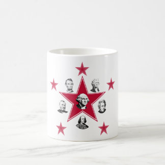 """American """"Stars"""" of History with Red Stars Mugs"""