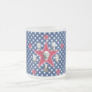 American Stars of History with Stars Background Coffee Mugs