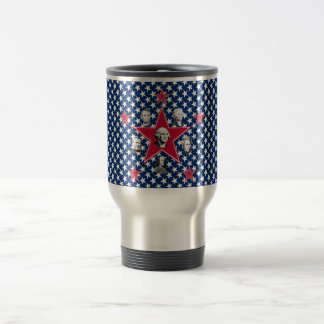 American Stars of History with Stars Background Coffee Mug