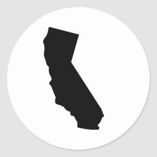 American State of California Round Sticker