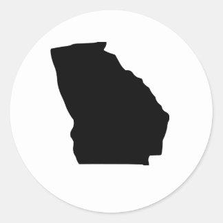American State of Georgia Classic Round Sticker