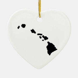 American State of Hawaii Ceramic Heart Decoration