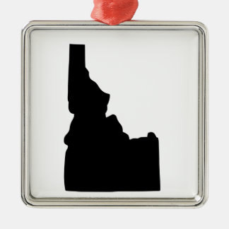 American State of Idaho Silver-Colored Square Decoration