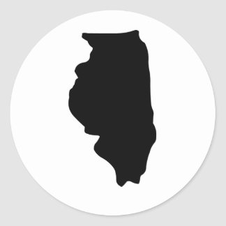 American State of Illinois Round Sticker