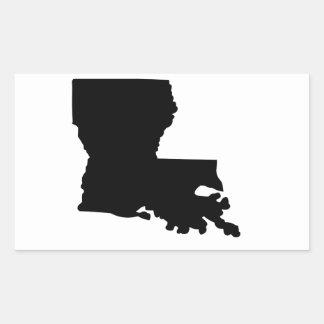 American State of Louisiana Rectangular Sticker