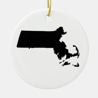 American State of Massachusetts Christmas Ornament