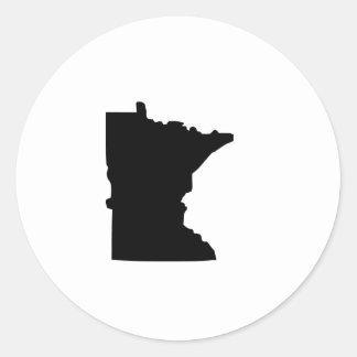 American State of Minnesota Round Sticker