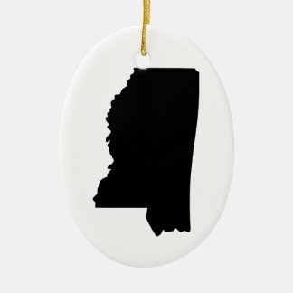 American State of Mississippi Ceramic Oval Decoration