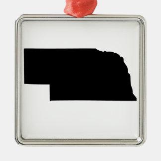 American State of Nebraska Silver-Colored Square Decoration