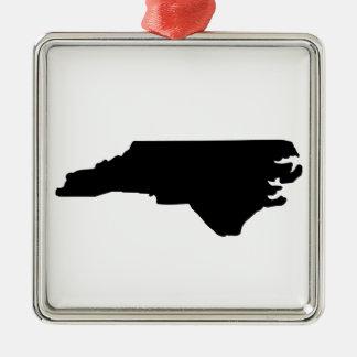 American State of North Carolina Silver-Colored Square Decoration