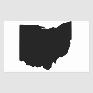 American State of Ohio Rectangular Sticker