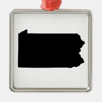 American State of Pennsylvania Silver-Colored Square Decoration
