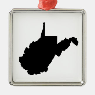 American State of West Virginia Silver-Colored Square Decoration