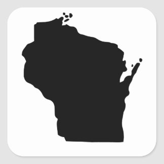 American State of Wisconsin Square Sticker
