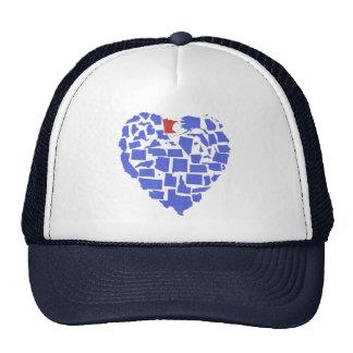 American States Heart Mosaic Minnesota Blue Trucker Hat