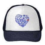American States Heart Mosaic Oregon Blue Cap