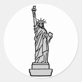 American Statue of Liberty Classic Round Sticker