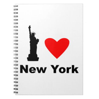 American Statue of Liberty Spiral Note Book